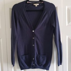 Burberry Brit Small Button Down Navy Cardigan
